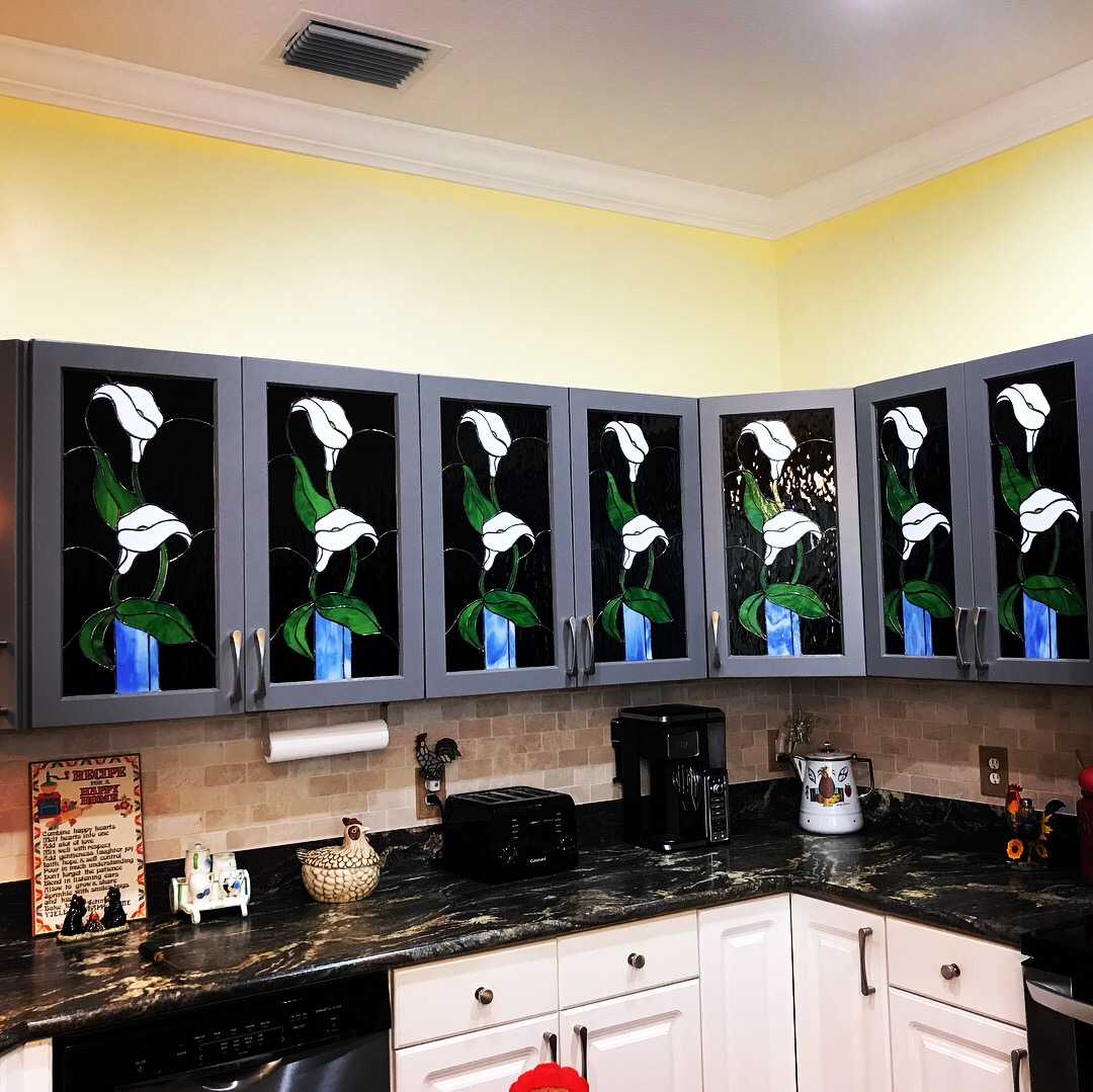 Stained Glass Passion, Kitchen Cabinets