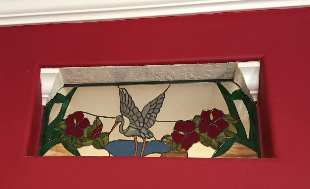 Bird (Stained Glass Passion), Transom