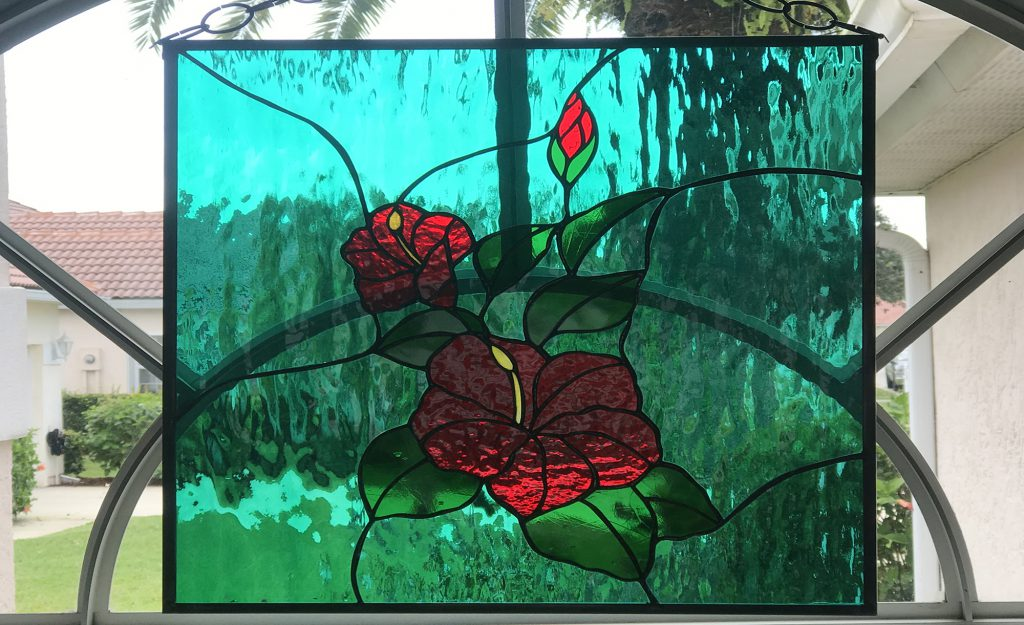 Hibiscus Flower (Stained Glass Passion), Window