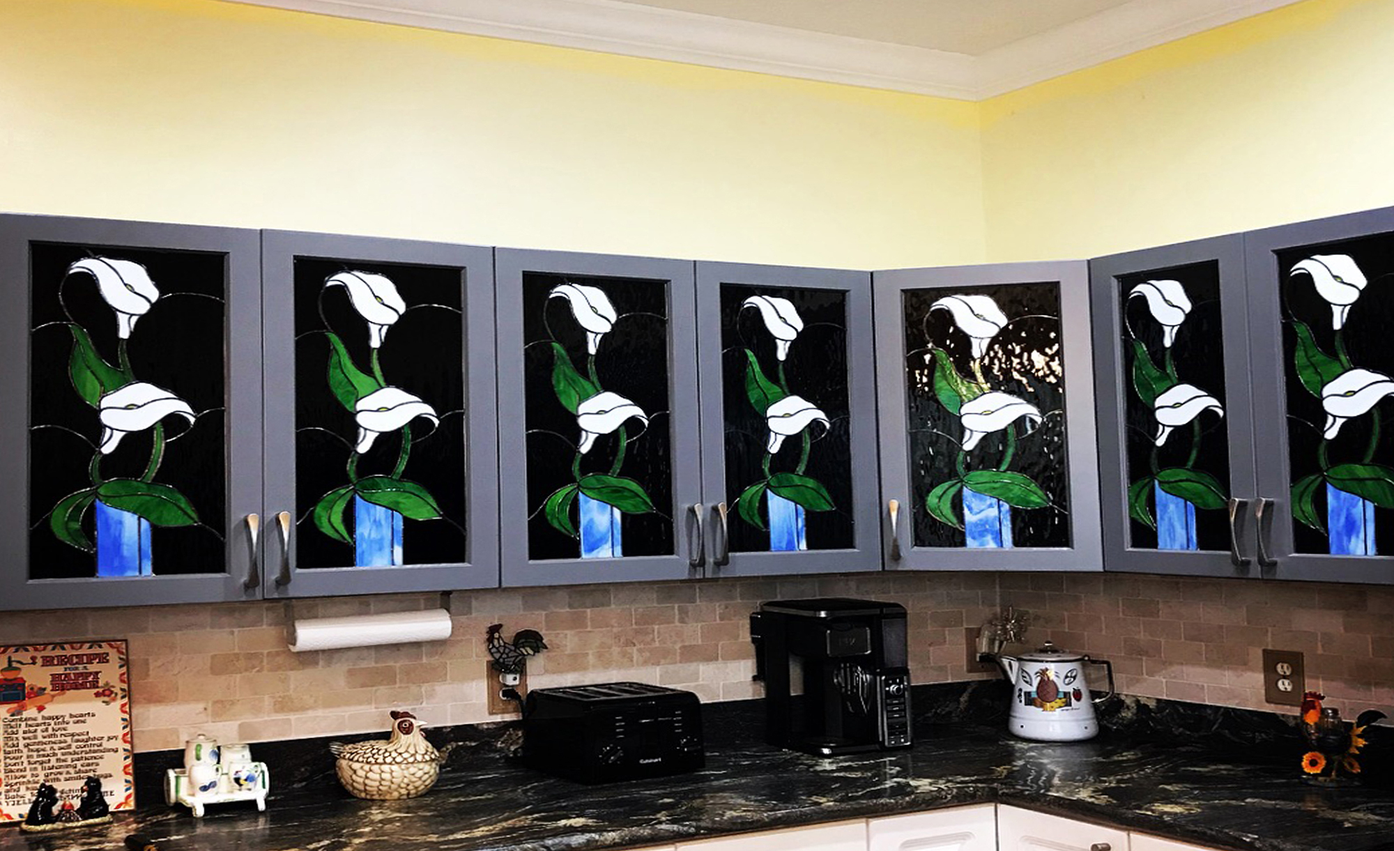 Peace Lily (Stained Glass Passion), Kitchen Cabinets