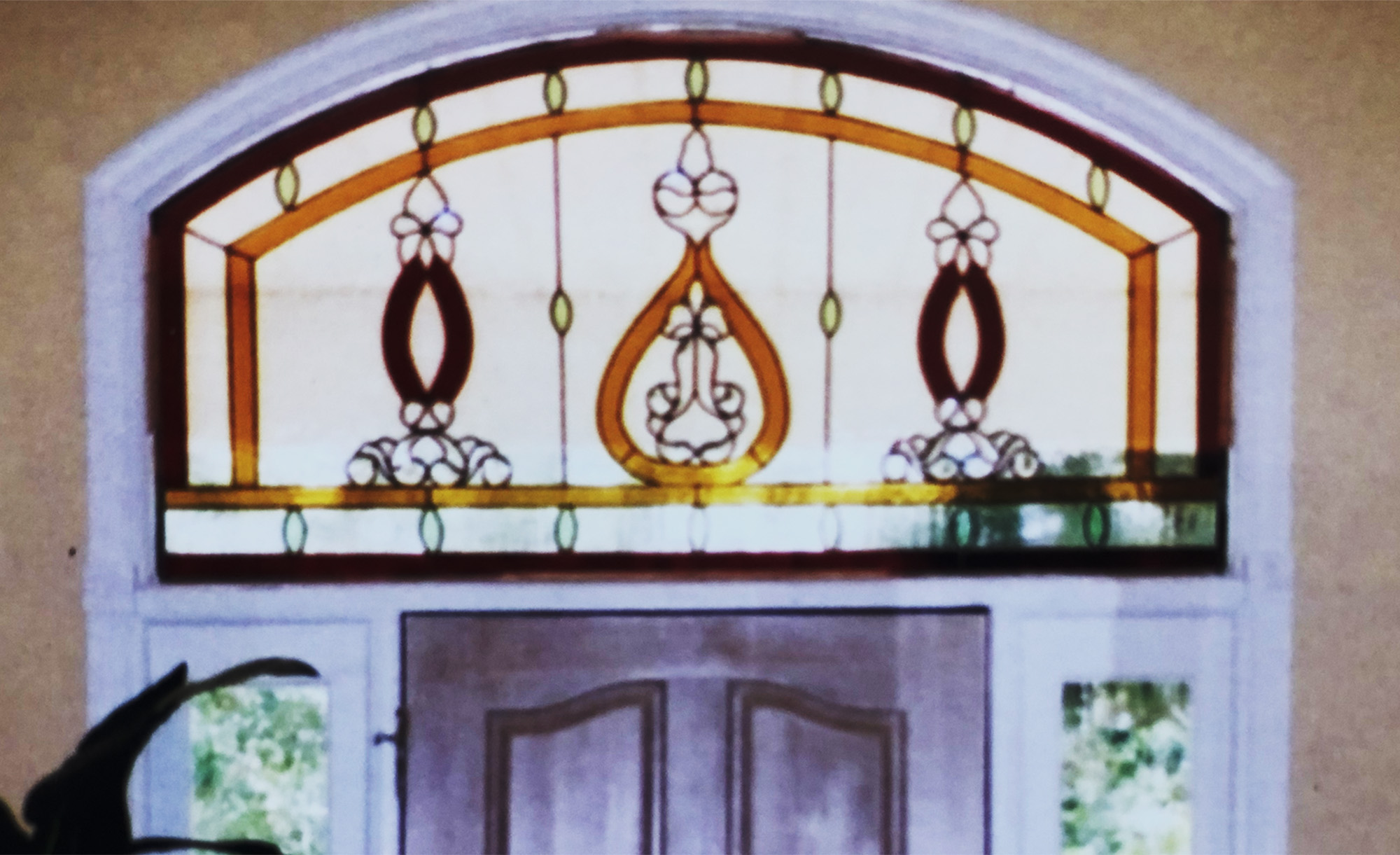 Stained Glass Passion, Entry Transom